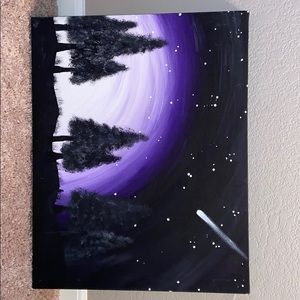 Night scene painting